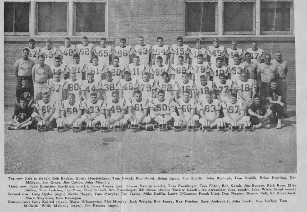 The legendary 1964 Saint Ignatius football team.
