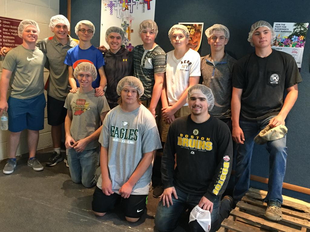 Icemen Players Give Back to the Community Through Feed My Starving Children at Asbury United Methodist Church in Columbus.  These are amazing young men dedicated to their sport and community.