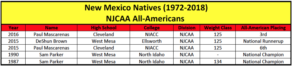 College NJCAA All-Americans