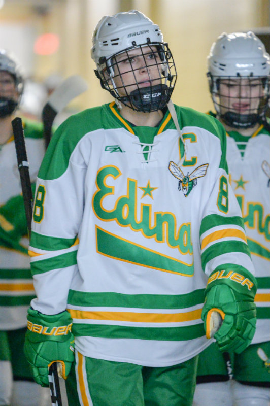 Mallory Uihlein (pictured) is one of three Edina players to make the Class 2A all-tournament team. The Hornets defeated Brainerd/Little Falls to win their third straight state championship on Saturday. Photo by Earl J. Ebensteiner, SportsEngine