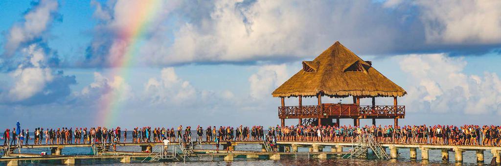 A Cozumel bay where IRONMAN 70.3 race takes place