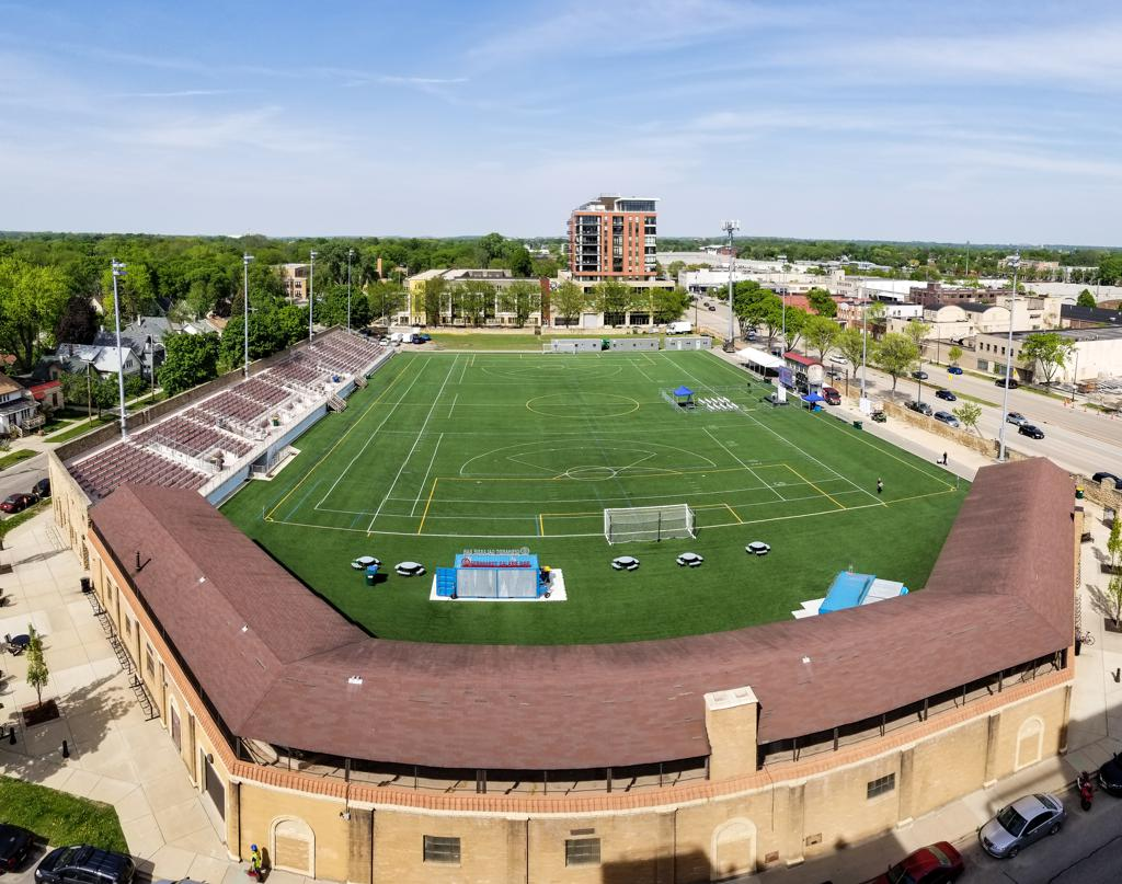 Breese Stevens Field aerial view