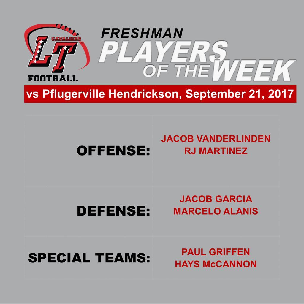 Freshman Players of the Week