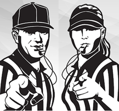 We are looking for dependable and knowledgeable people to umpire baseball, umpire youth and adult softball, officiate soccer, and officiate volleyball!