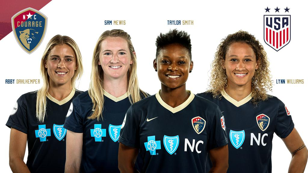 ELLIS NAMES FOUR NC COURAGE PLAYERS TO ROSTER FOR 2017