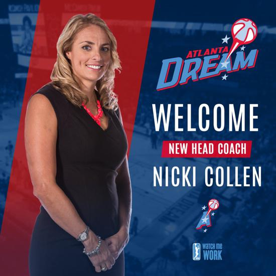 Congratulations to Nikki Collen, WI Viking Club/Team Wisconsin Alumni on becoming the Head Coach of WNBA Team Atlanta Dream