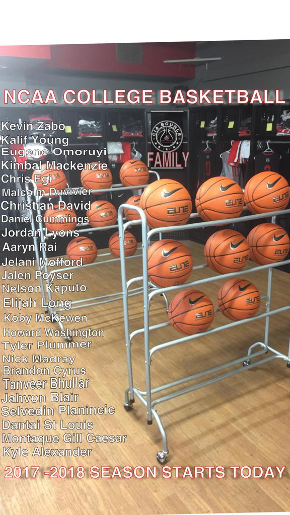 2017 - 2018 Nike CIA Bounce EYBL Alumni in Collge