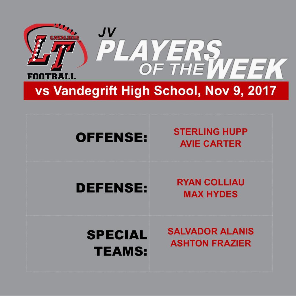 JV Players of the Week vs Vandegrift High School