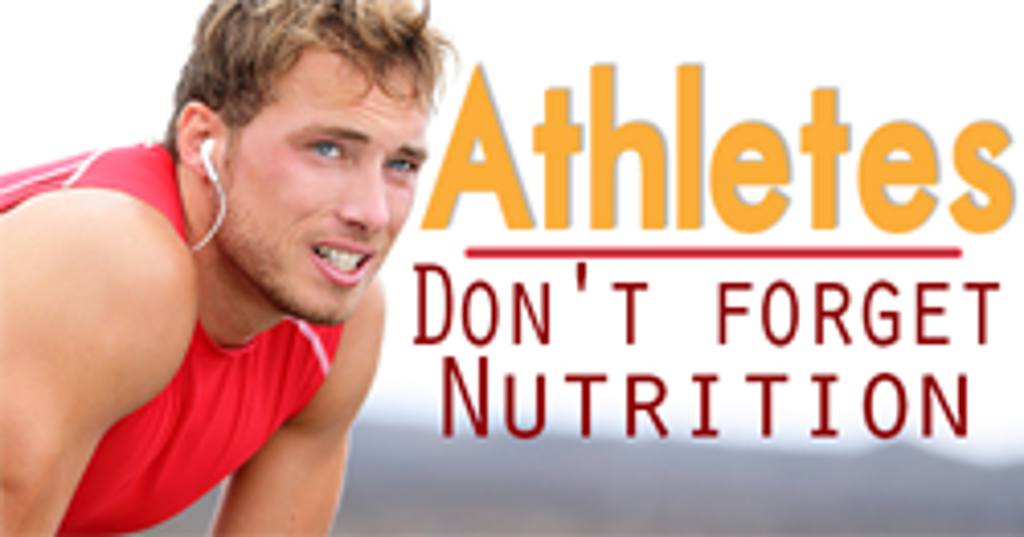 Sports Nutrition For The High School Athlete
