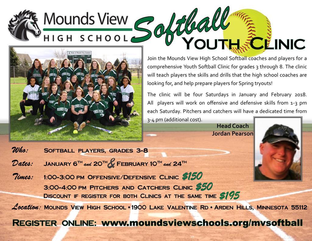 MoundsView High School Youth Softball Clinic