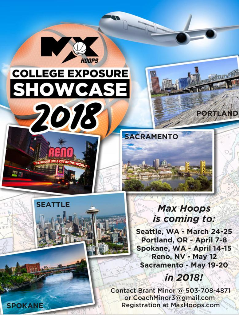 Basketball Showcases: Reno, Sacramento, Portland, Spokane, Seattle