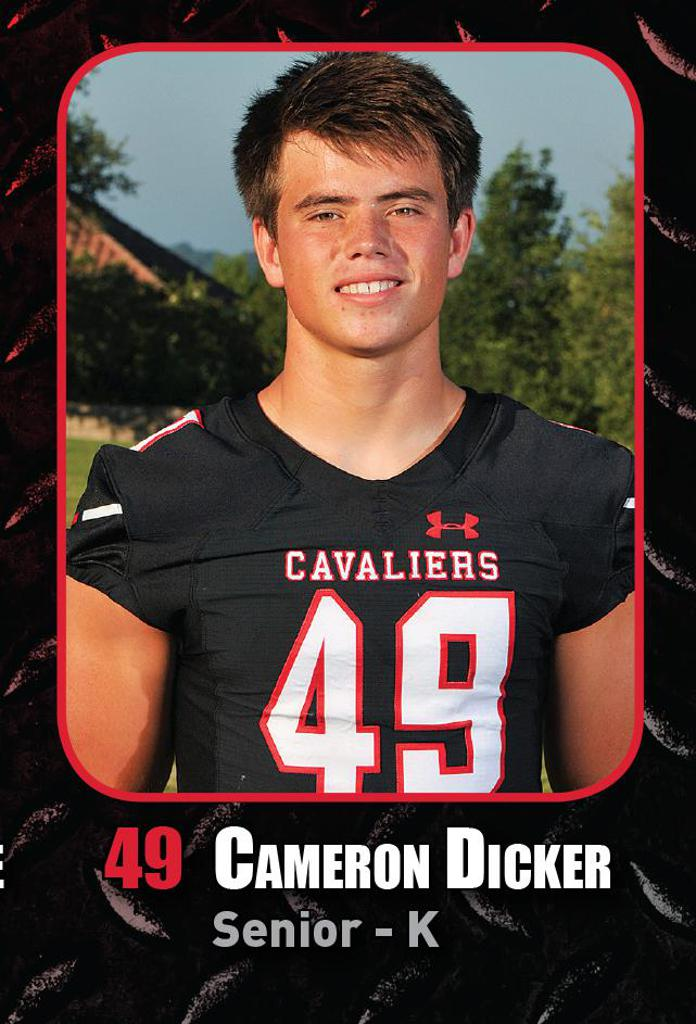 Semi-Final Playoff Game vs Katy HS -Special Teams Player of the Week Cameron Dicker