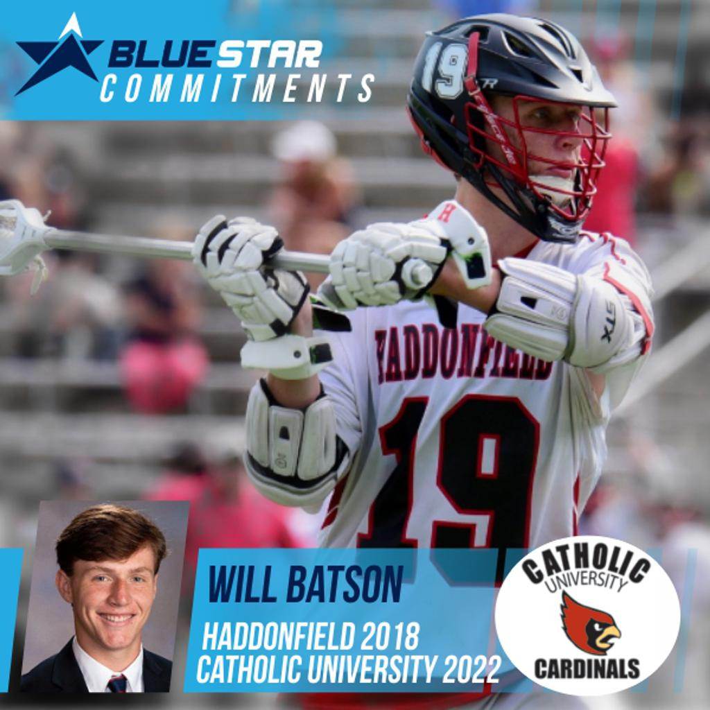 Blue Star Lacrosse Will Batson Commitment Photo Catholic Lacrosse