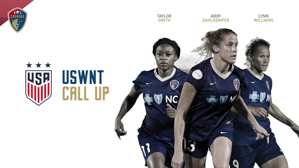 Three NC Courage Players Kickoff the New Year at USWNT