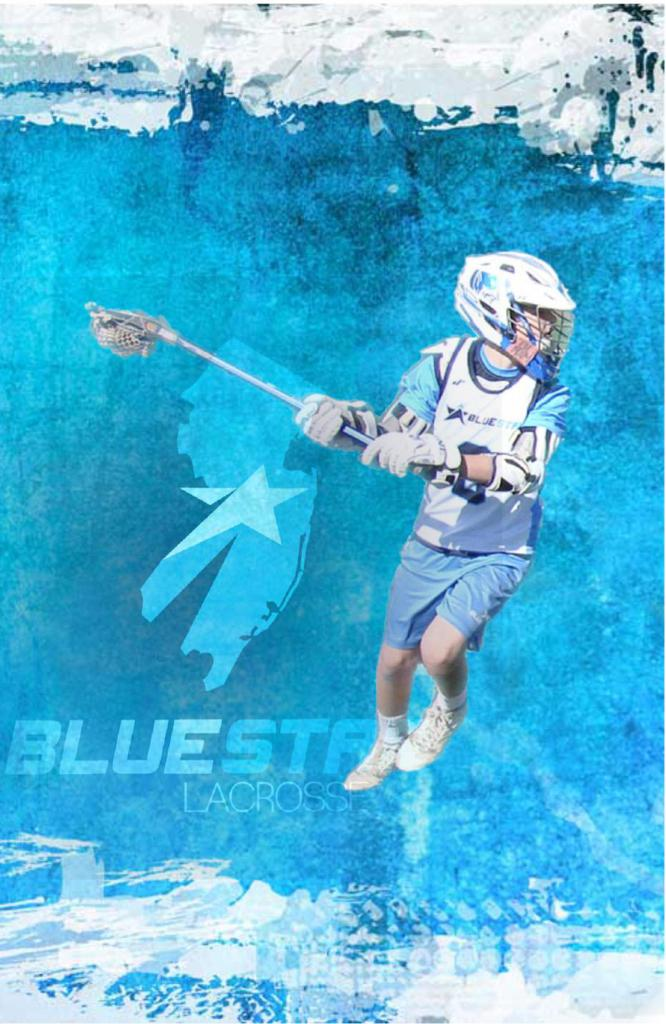 Blue Star Lacrosse Wall Paper