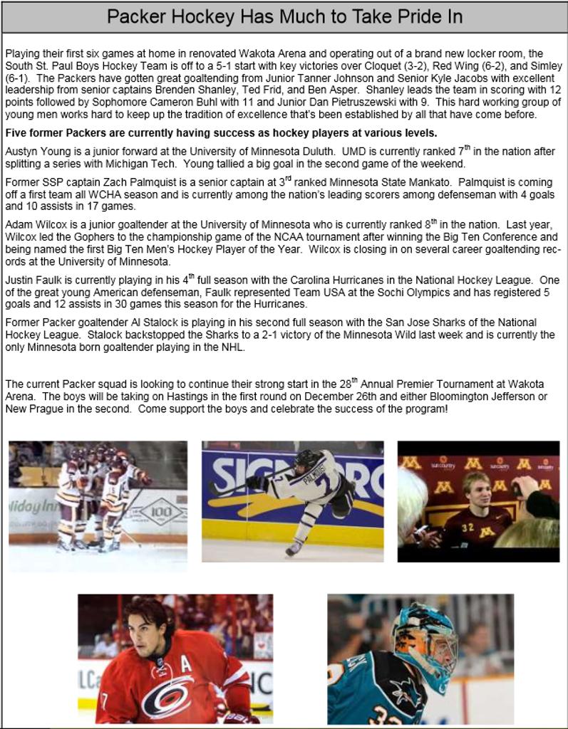 Packer Hockey Success