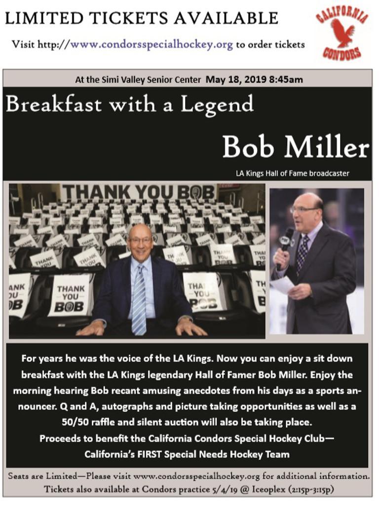 Breakfast With a Legend - Bob Miller