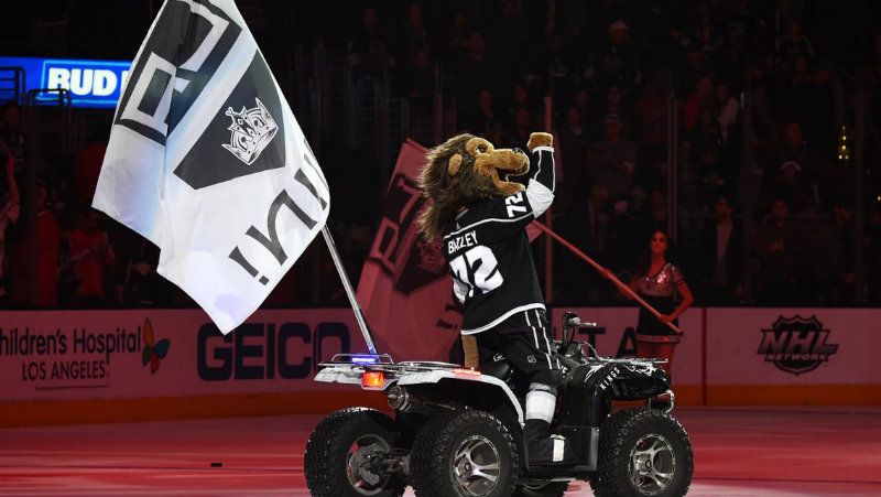 Bailey the lion has been a mainstay in Los Angeles and is a favorite among Kings fans. Photo courtesy of the Los Angeles Kings