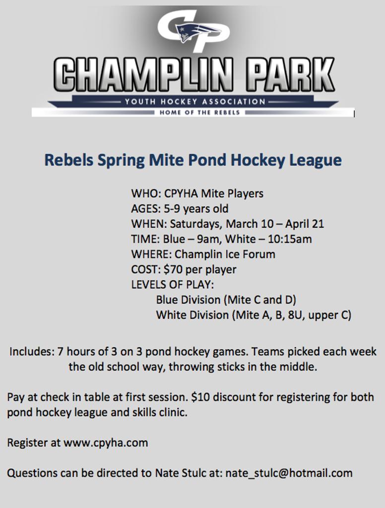 Rebels Spring Mite Pond Hockey League