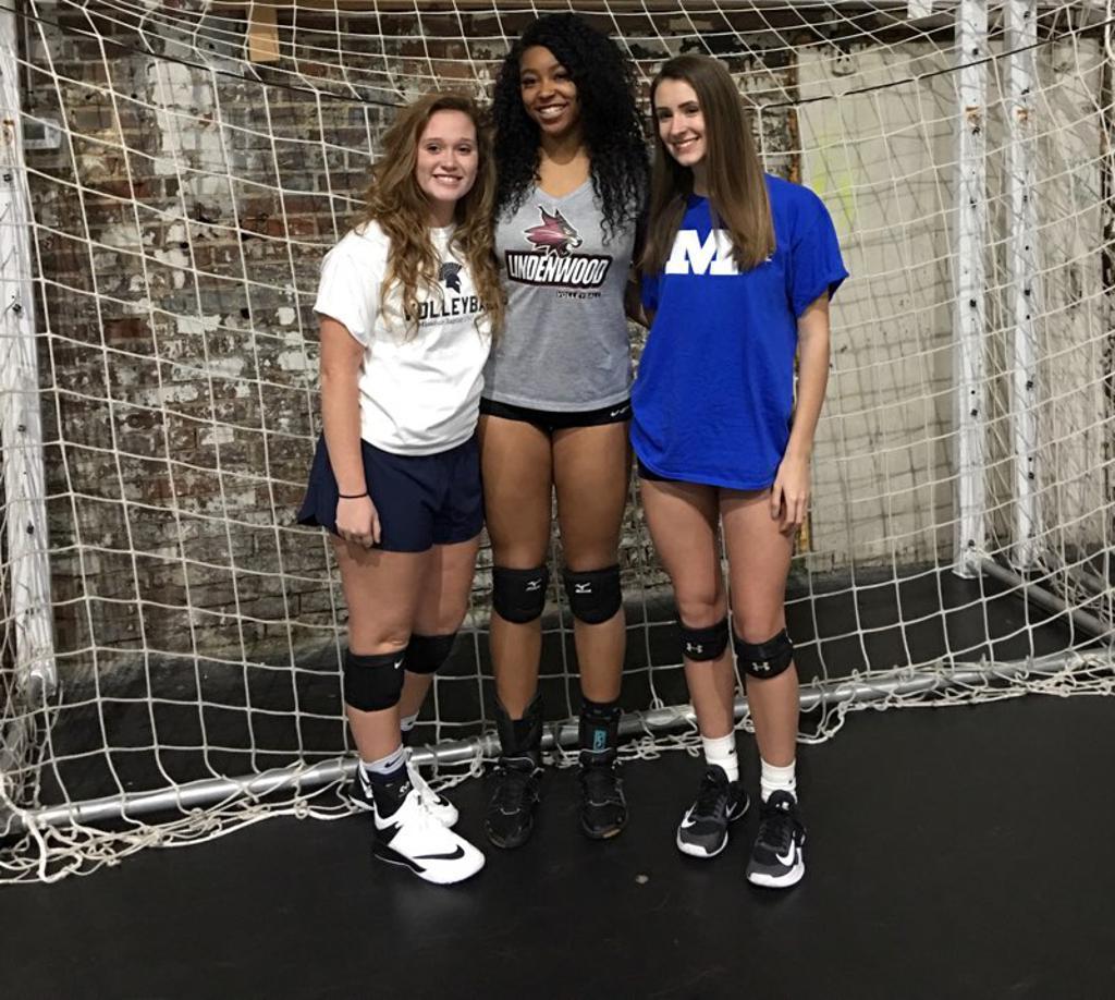 Girls volleyball locker room