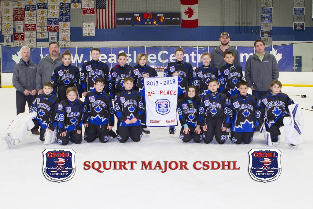 Leafs Squirt 2007 Get 2nd Place In Central States Playoffs