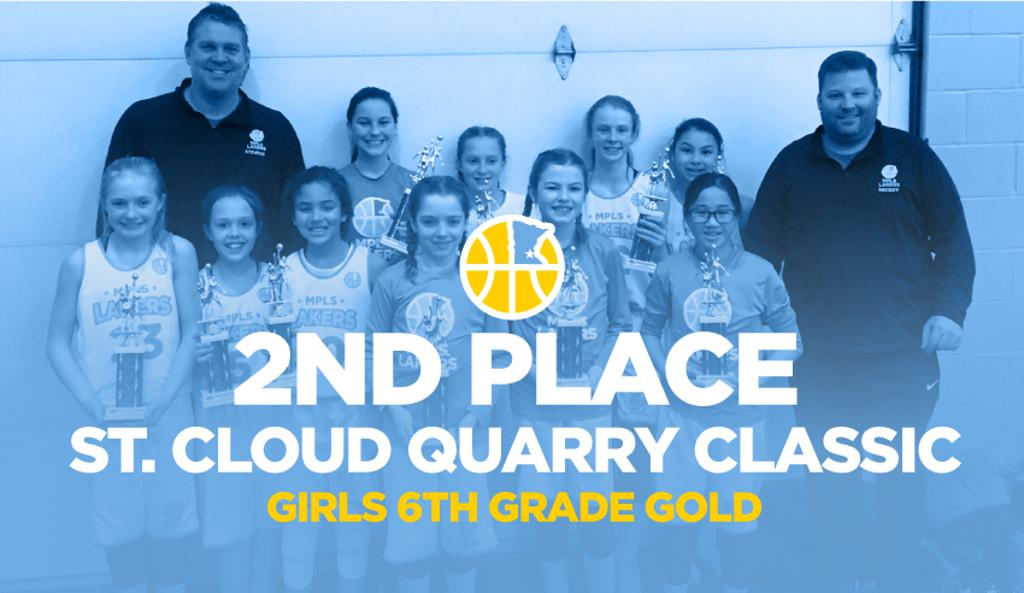 Girls 6th Grade Gold Take 2nd Place at St Cloud Quarry Classic graphic