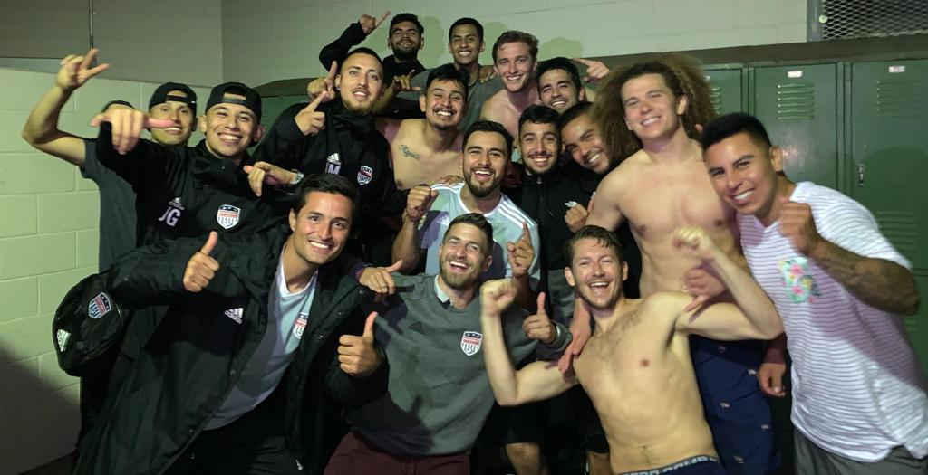 San Ramon FC NPSL Team Celebration