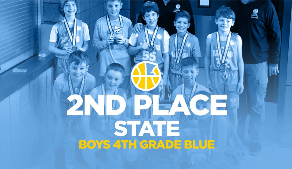 Boys 4th Grade Blue Take 2nd Place at State graphic
