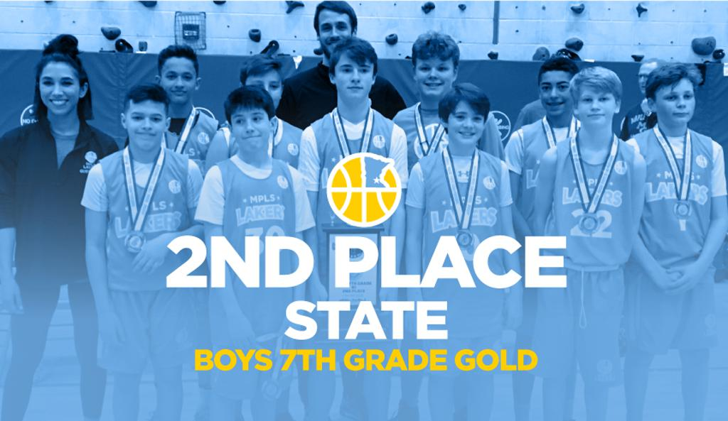 Boys 7th Grade Gold Take 2nd Place at State graphic