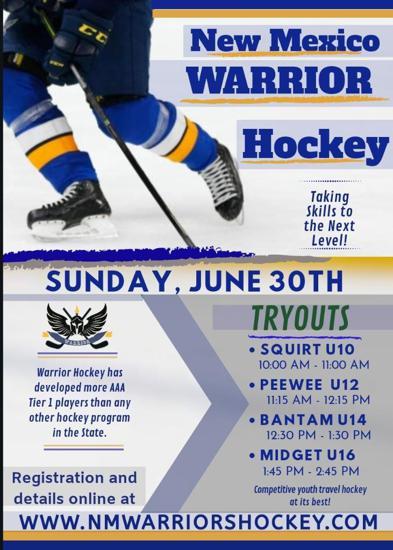 Warrior Hockey Tryouts