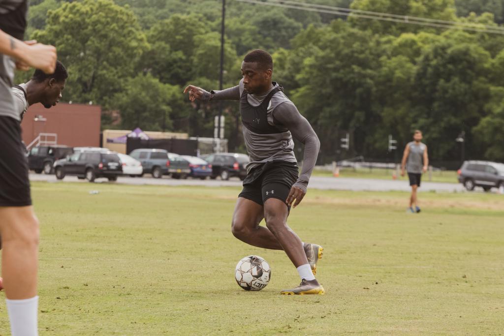 Kharlton Belmar at Nashville SC Practice