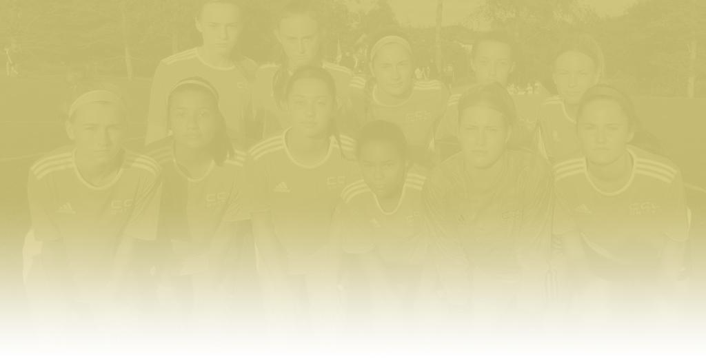 Background image of youth girls team with gold overlay fading to white over image