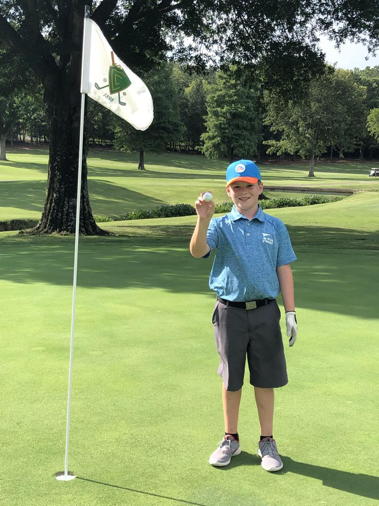 Tyler Stephens of Birmingham, Alabama, made his very first hole-in-one at The Country Club of Birmingham's Hole No. 3 from 120 yards with a 6-iron!