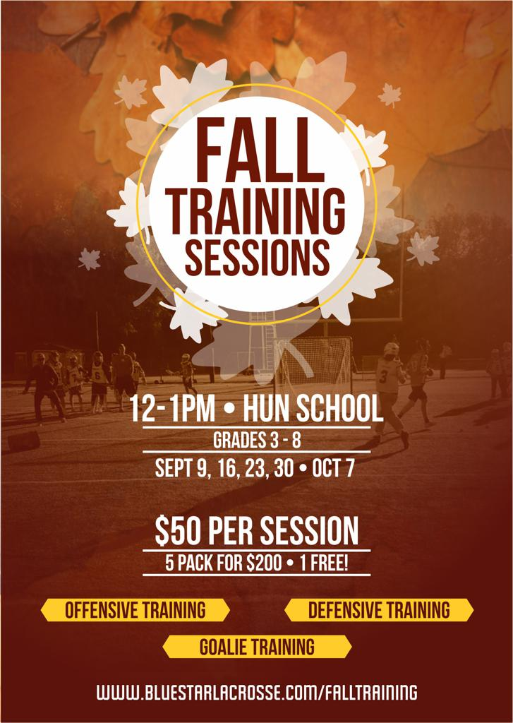 Blue Star Lacrosse Fall Training Sessions