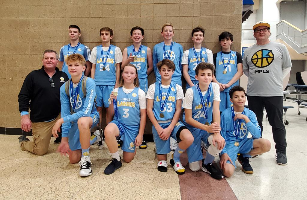 Boys 8th Grade Blue take 2nd Place at Rogers Winter Warmup. Way to go Lakers!