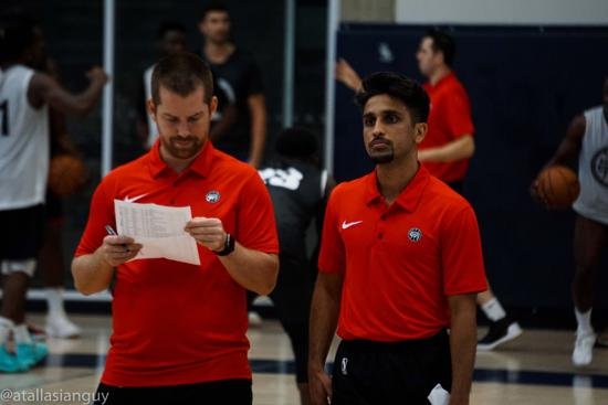 Assistant coaches Charles Dube-Brais and Arsalan Jamil