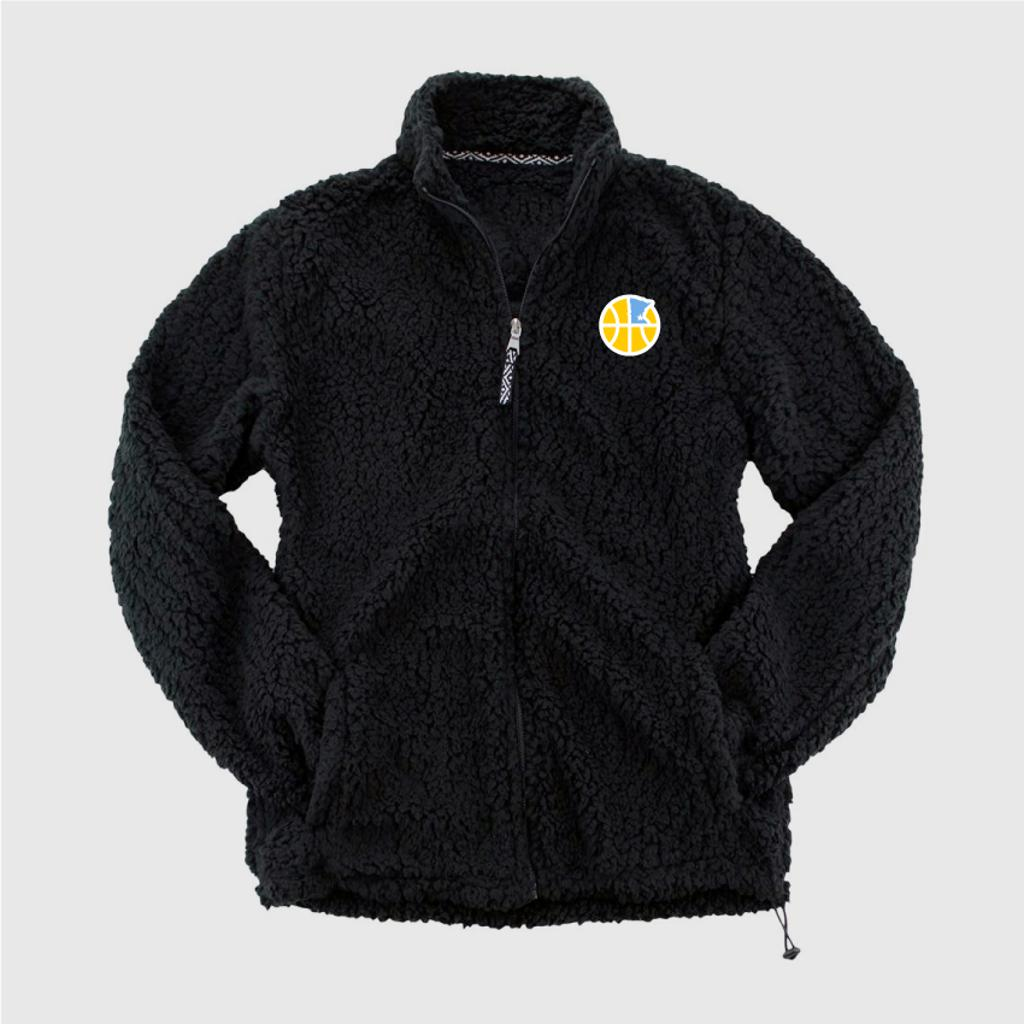 Fleece Fuzzy full zip jacket with embroidered logo