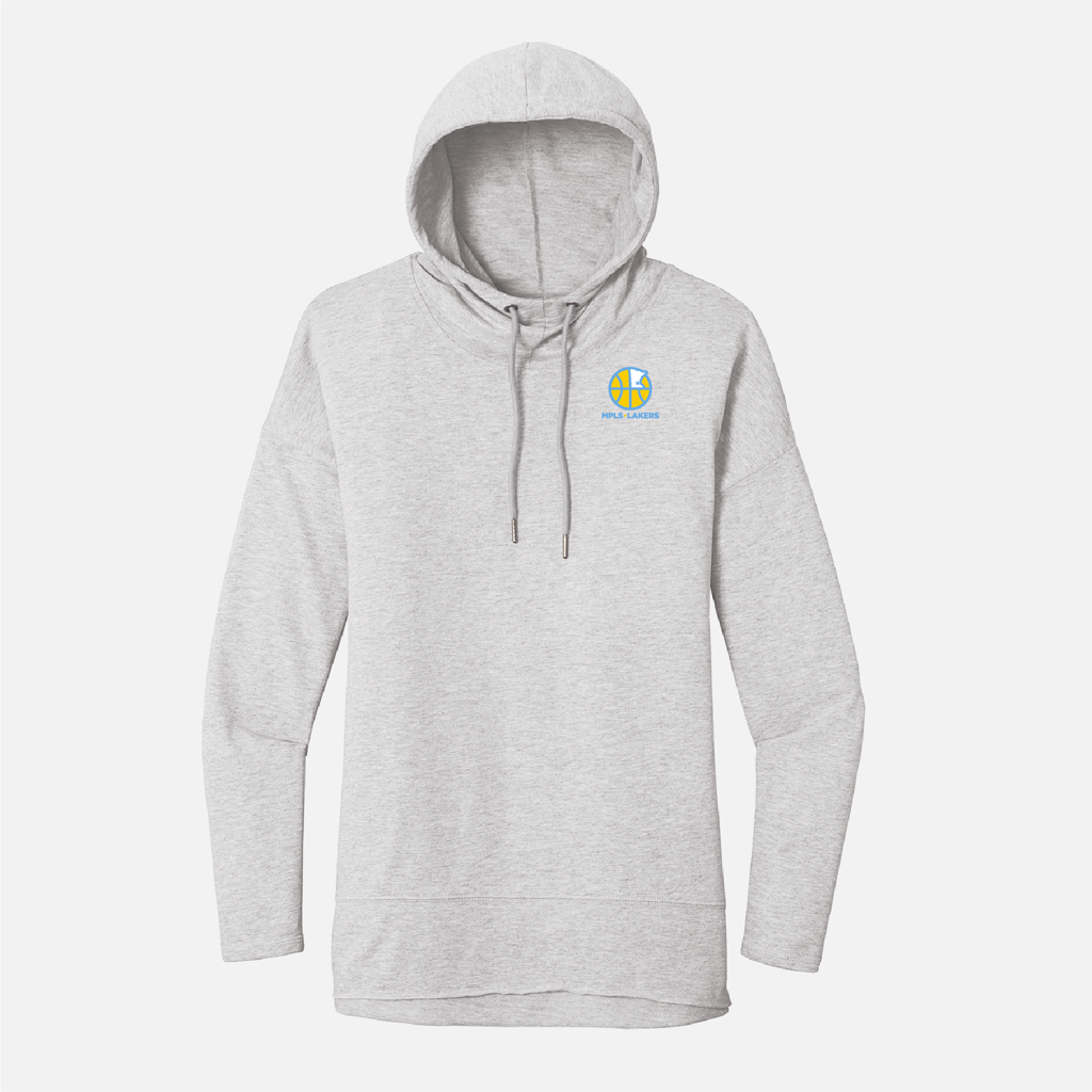 Official Mpls Lakers Youth Traveling Basketball Program Inc apparel and gear in Minneapolis, MN: Women's Grey Lightweight Hoodie with embroidered logo
