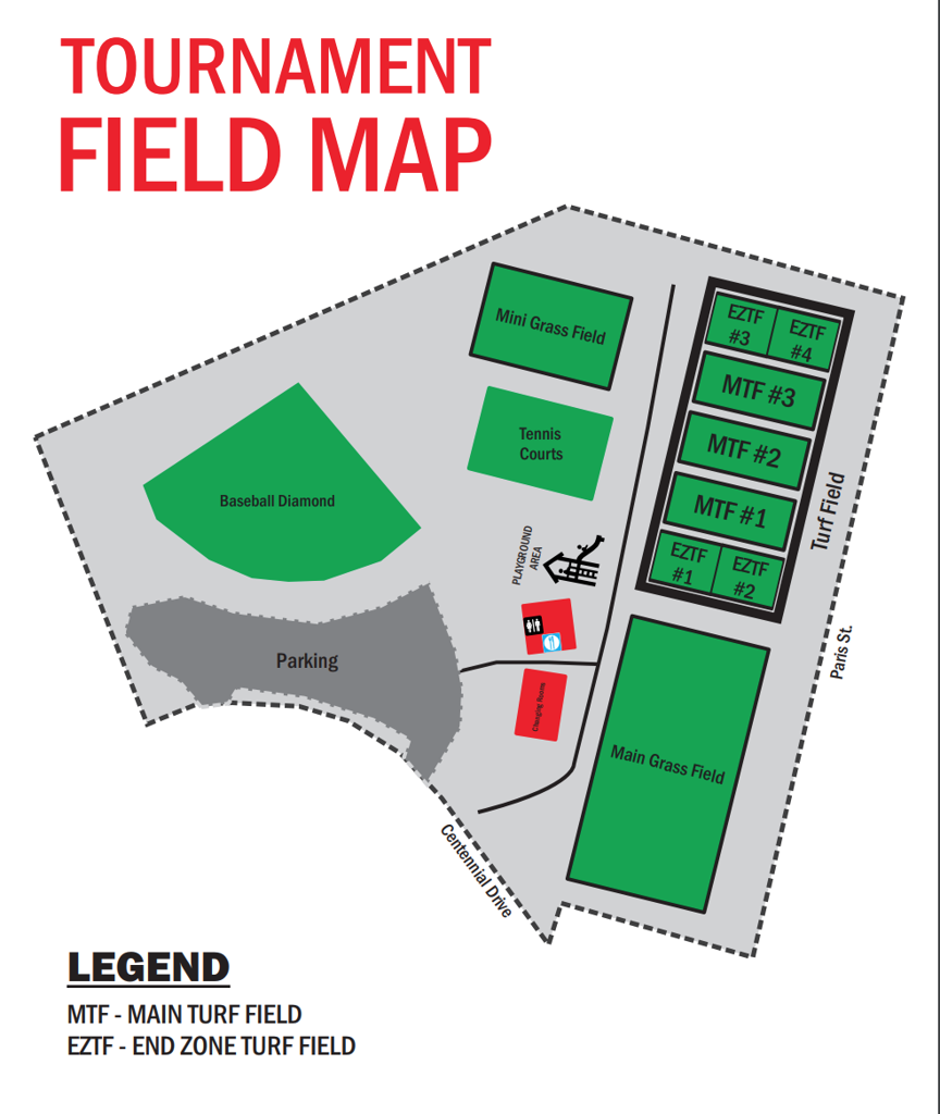 Field Map - James Jerome Sports Complex