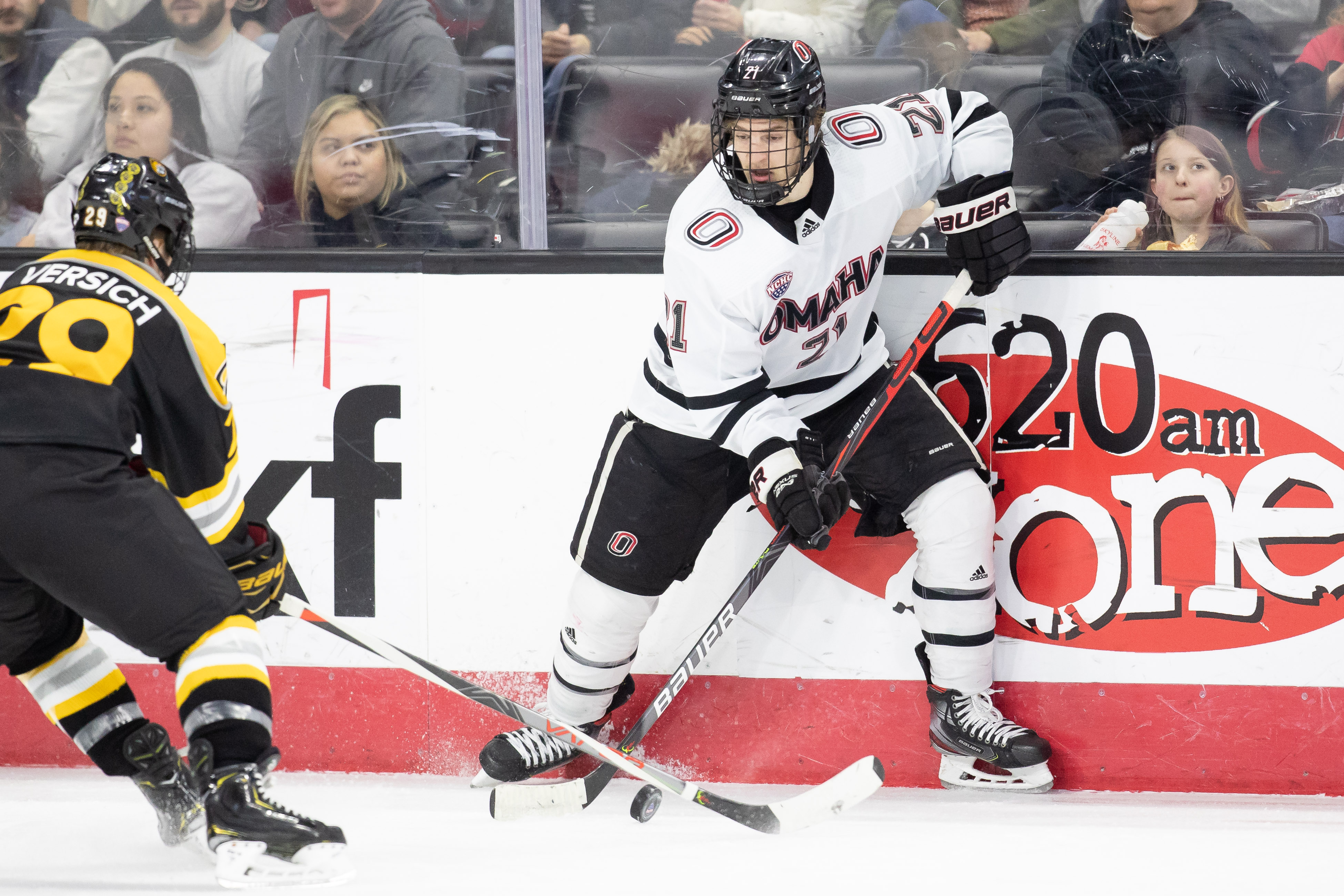 Littleton native Noah Prokup will have the chance to take the ice in an NCAA tournament game Saturday at the same rink as a child he watched the Colorado Eagles play at. Photo courtesy of Nebraska Omaha athletics