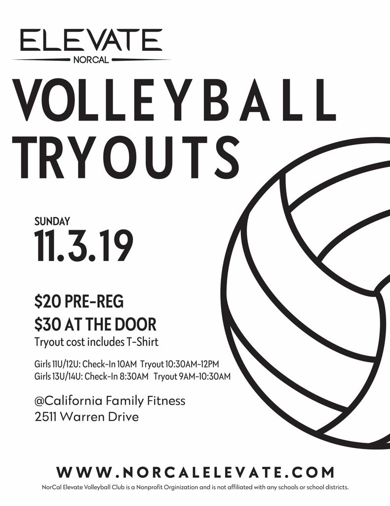 2019 Girls Volleyball Tryouts