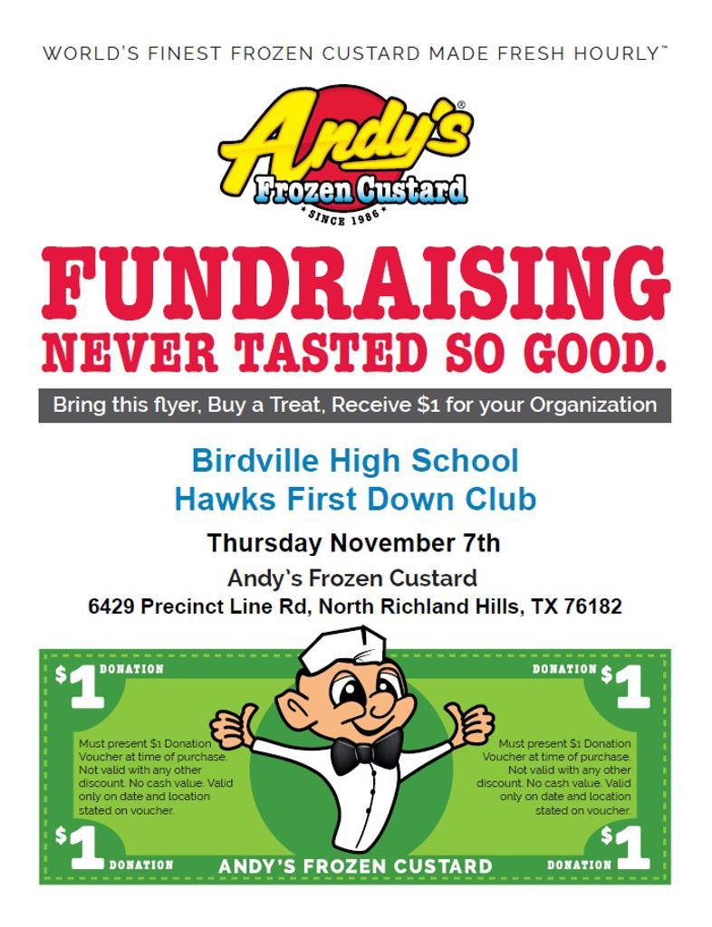 Andy's Fundraiser Nov 7th