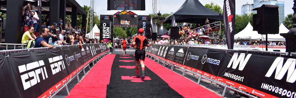 Finish line at the Mazda IRONMAN 70.3 Monterrey