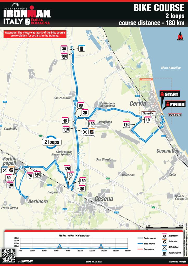 Bici percorso IM Emilia Romagna