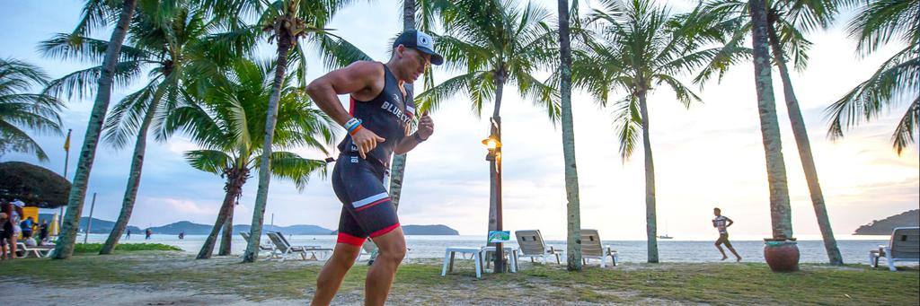 Runner participating in IRONMAN Malaysia