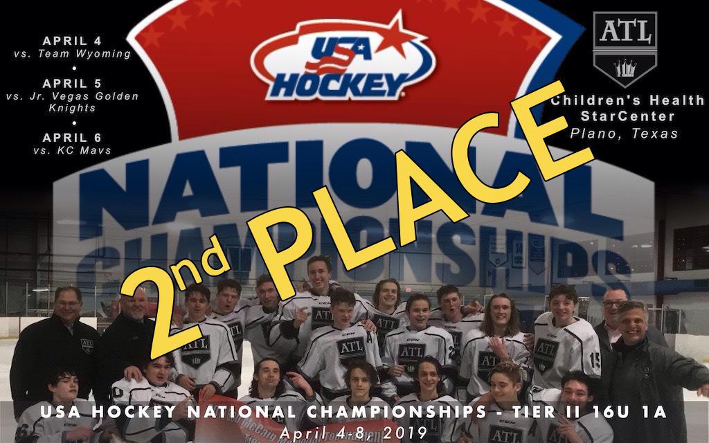 Kings get 2nd place at 2019 USA Hockey Nationals.