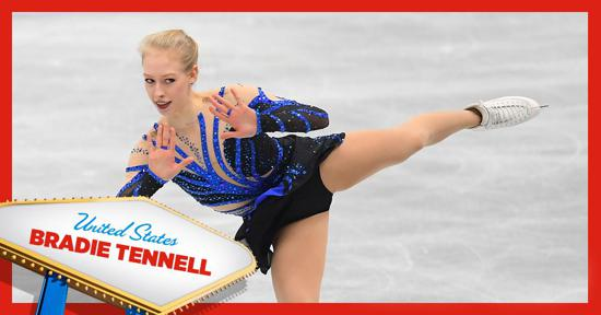 Skate America ladies competitor - Bradie Tennell of Team USA