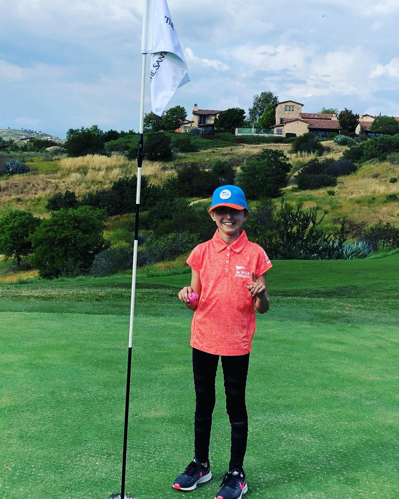 What a drive! 10-year-old San Diego native Elia Cohn aced Hole No. 5, a par 3, at The Santaluz Club with her driver from 97 yards during a PGA Jr. League match.