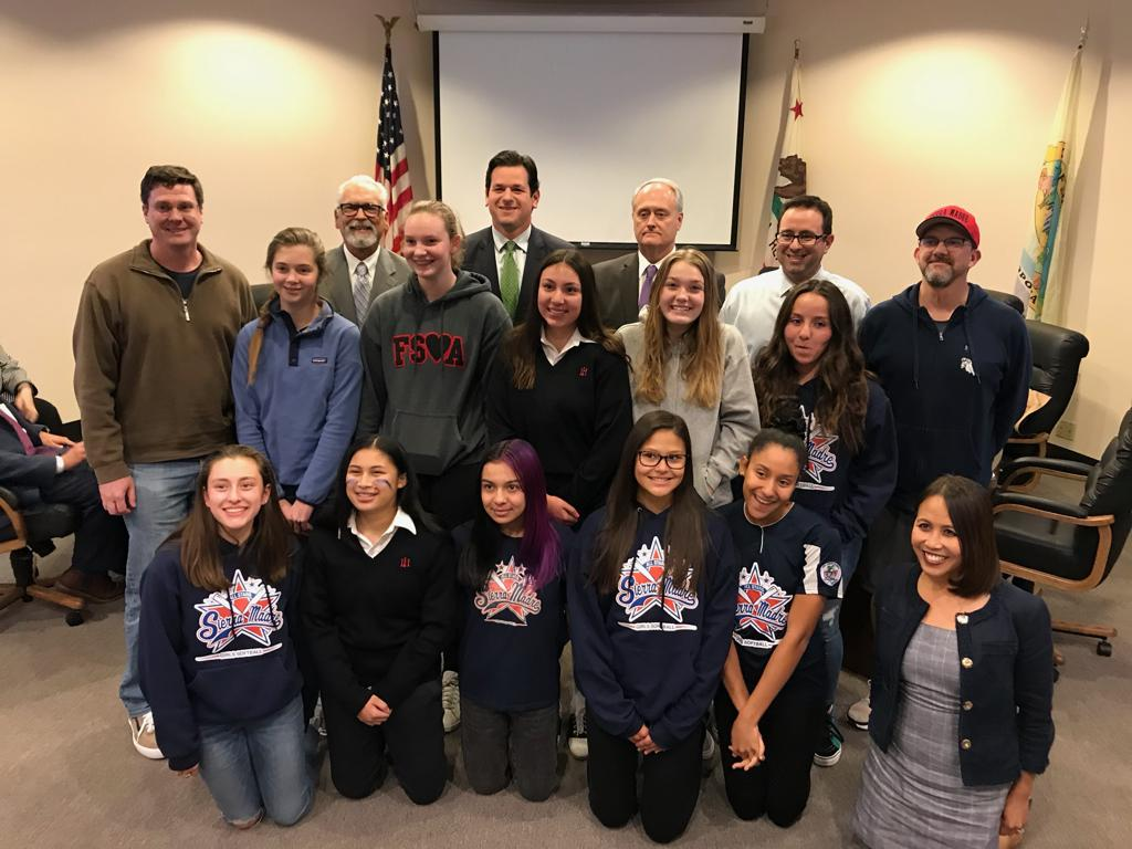 Members of the 2019 14U All Star team were recognized by Sierra Madre City Council for their success during championship play:  1st in B Districts, 3rd in B States, and competed at Western Nationals in Redding, CA.  Proud to represent Sierra Madre!