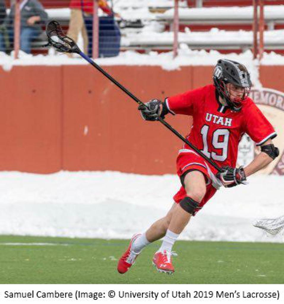Samuel Cambere (Image: © University of Utah 2019 Men's Lacrosse)